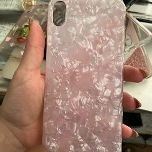 Pink opal iPhone XS Max case